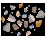 再生砕石や再生砂のイラスト